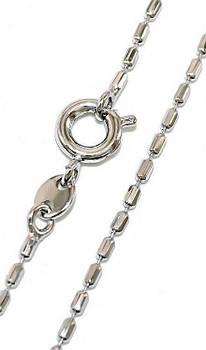 Цепочка фирмы Xuping, цвет серебряный. Длина: 46 см. Ширина: 1 мм.Плетение: Бочка.