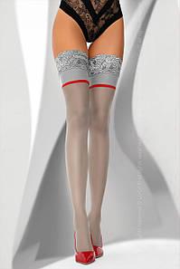 Чулки с широкой резинкой Ligamean Grey 20 den Livia Corsetti Fashion 2-S, серый
