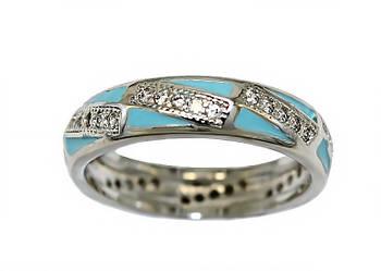 Кольцо фирмы XР. Цвет: серебряный. Камни: белый циркон. Есть 16 р.