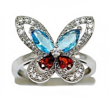 Кольцо фирмы Xuping.Цвет: серебряный. Камни: циркон разных цветов. Ширина:15 мм.Есть 16 р. 17 р.