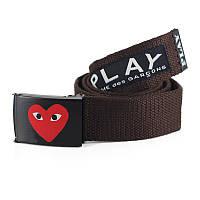 Ремень Пояс PlayCOMME DES GARCONS Сердце  - Коричневый 150 см