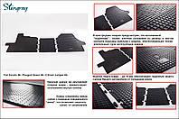 Резиновые коврики в салон на Fiat Ducato 06- (Фиат Дукато)