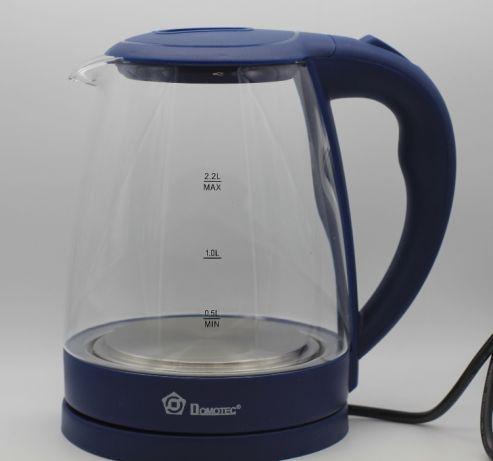 Электрический чайник Domotec MS 8211 синий с LED подсветкой