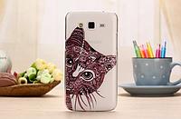 "Пластиковый чехол на Samsung G7106 g7102 G7108 Galaxy Grand 2 Duos ""котенок"""