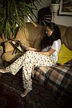 Фланелевая байковая пижама с футболкой Котики L, фото 2