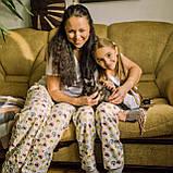 Фланелевая байковая пижама с футболкой Котики L, фото 7