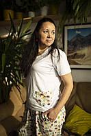 Фланелевая пижама с футболкой Котики М, фото 1