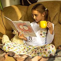 Детская фланелевая пижама с кофтой Котики 140, фото 1
