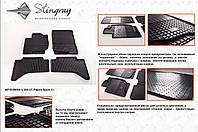 Резиновые коврики в салон на  Mitsubishi ASX 10- (Митсубиси АСХ) 10-