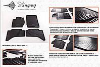 Резиновые коврики в салон на Mitsubishi Pajero Sport 08-(Митсубиси Паджеро Спорт 08-)