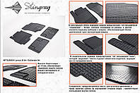 Резиновые коврики в салон на Mitsubishi Outlander 03- (Митсубиси Аутлендер 03-)