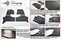 Резиновые коврики в салон на Mitsubishi Pajero Wagon 07- (Митсубиси Паджеро Вагон 07-)