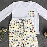 Детская фланелевая пижама с кофтой Котики 128, фото 3