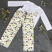 Детская фланелевая пижама с кофтой Котики 128, фото 1