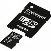 Карта памяти microSD Transcend 16GB (10class)