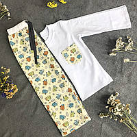 Детская фланелевая пижама с кофтой Овечки 104, фото 1