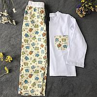 Детская фланелевая пижама с кофтой Овечки 134, фото 1