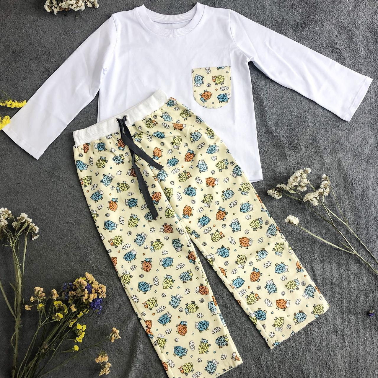 Детская фланелевая пижама с кофтой Овечки 146