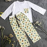 Детская фланелевая пижама с кофтой Овечки 146, фото 1