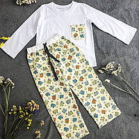 Фланелевая пижама с кофтой Овечки М, фото 1