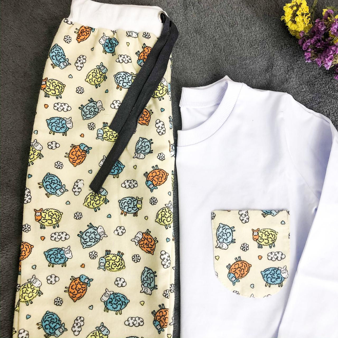 Фланелевая пижама с кофтой Овечки XXXL