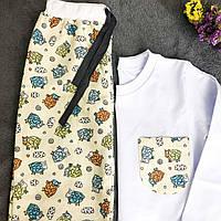 Фланелевая пижама с кофтой Овечки XXXL, фото 1