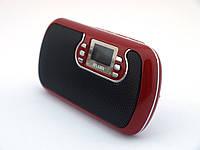 Колонка ATLANFA AT6531 переносная колонка 3W сMircoSD, USB, MP3, TF с ЖК дисплеем красная   AG310305