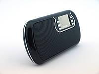 Портативная колонка ATLANFA AT6526 переносная колонка 3W сMircoSD USB MP3, черная   AG310311