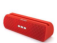 С подставкой для телефона! Atlanfa at-7735, портативная колонка 10W с Bluetooth FM MP3,красная | AG310328