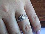 """Серебряное кольцо """"Диадема"""" Корона, фото 6"""
