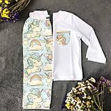 Детская хлопковая пижама с кофтой Единороги 134 см, фото 6