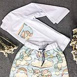 Детская хлопковая пижама с кофтой Единороги 134 см, фото 5