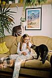 Детская хлопковая пижама с кофтой Единороги 134 см, фото 3