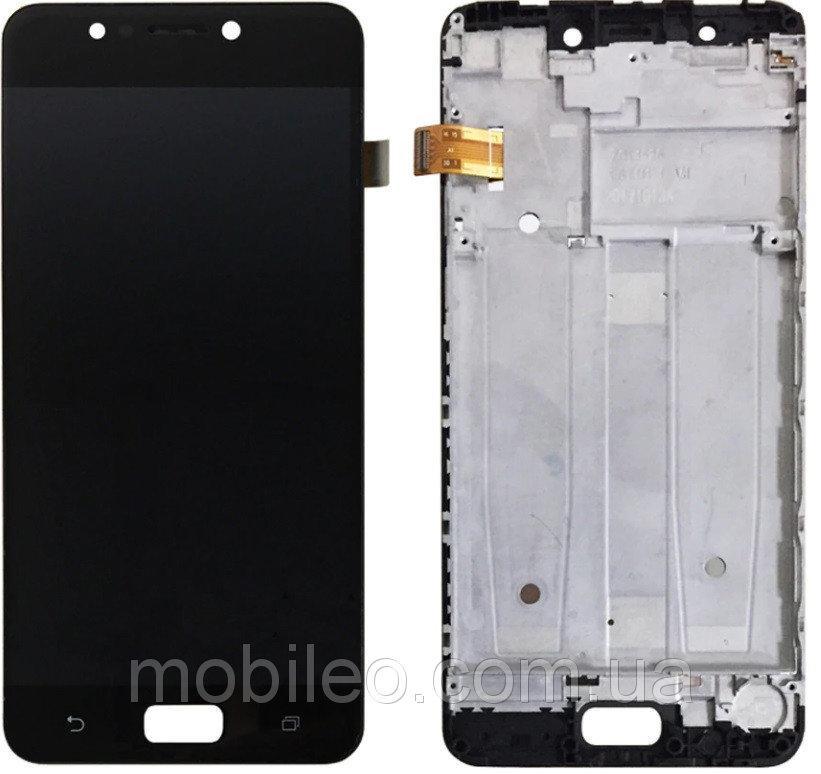 Дисплей (LCD) Asus ZenFone 4 Max (5.2) | ZC520KL | X00HD с тачскрином и рамкой, черный