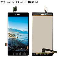 Дисплей (LCD) ZTE Nubia Z9 Mini с тачскрином, черный, фото 1