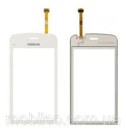 Сенсорный экран (тачскрин) Nokia C5-03 C5-06 white