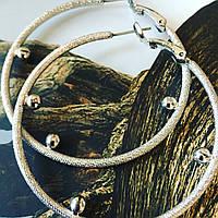 Серьги кольца женские  сталь ,  объемные не тяжёлые .без страз .стильные