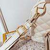 Рюкзак женский стеганый мини сумка ELIM PAUL Белый, фото 9