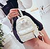 Рюкзак женский стеганый мини сумка ELIM PAUL Белый, фото 4