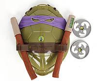 Боевой набор Донателло Черепашки Ниндзя - маска, панцирь, 2 сюрикена, шест Бо - 207692