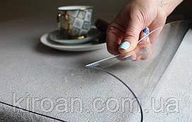 ПВХ скатерть, прозрачная ,толщина 3 мм 3000 мкм НА МЕТРАЖ ширина 100 СМ (Мягкое стекло)