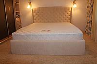 М'яка двоспальне ліжко (Колір Латте)