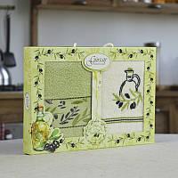 Набор махровых полотенец 2 шт Gursan Olive 40х60