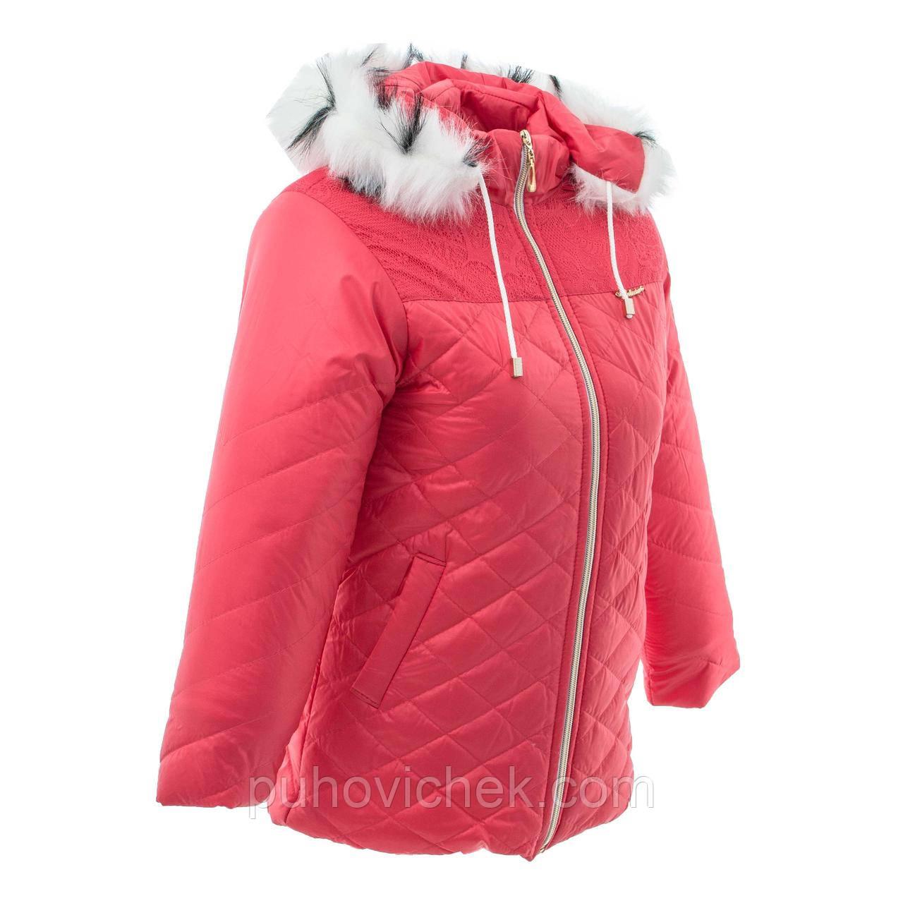 Зимові куртки дитячі для дівчаток на овчинка
