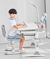 Детский стол трансформер с лампой и подставкой для книг, фото 1