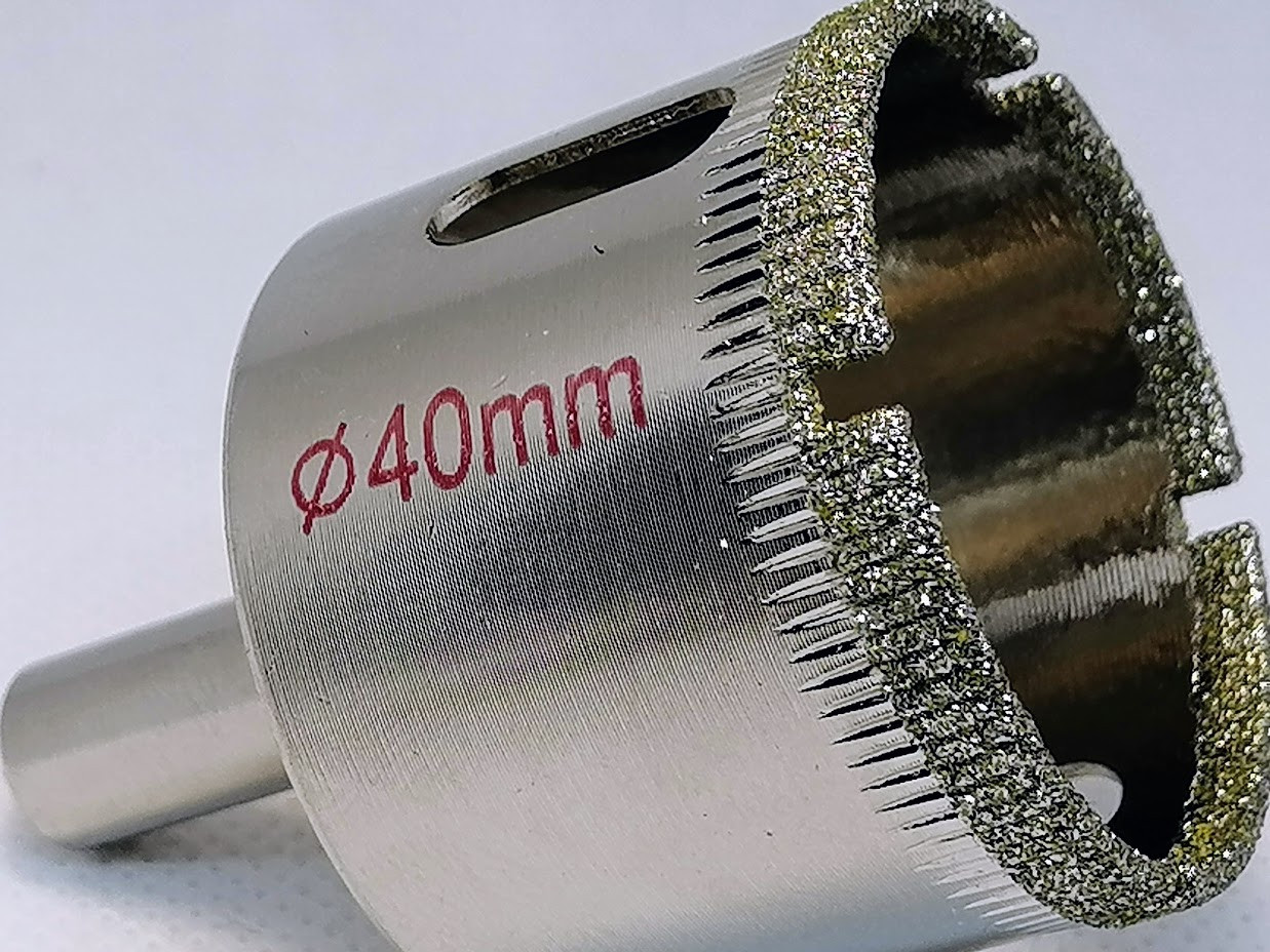 Коронка алмазная по стеклу и керамике 40 мм ZHWEl