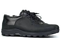 Кожаные зимние полу-ботинки на меху черные мужские Rosso Avangard Ragn Crazy Reba 2 Black, фото 1