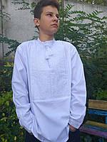 Вышиванка с белой вышивкой на поплине.Только S! 350\300 (цена за 1 шт. + 50 гр.)