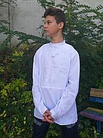 Вышиванка мужская с белой вышивкой. Только S! 350\300 (цена за 1 шт. + 50 гр.)
