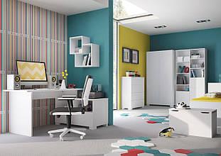 """Комплект 2 молодежной мебели """"Uni White"""",Meblik (Польша)"""